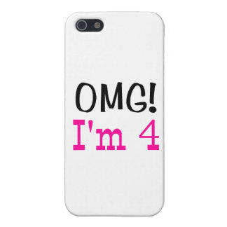 OMG I'm 4 (pink) Cover For iPhone 5
