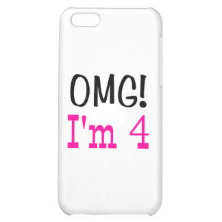 OMG I'm 4 (pink) iPhone 5C Cases