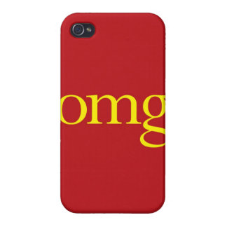 """""""OMG"""" iPhone 4 COVER"""