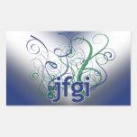 OMG! jfgi Rectangular Sticker