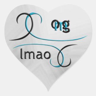 ¡OMG! lmao Pegatina En Forma De Corazón