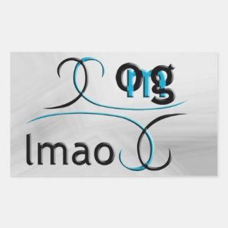 OMG! lmao Rectangular Sticker