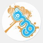 omg-logotipo pegatinas