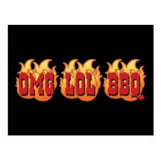 OMG LOL BBQ POSTCARDS