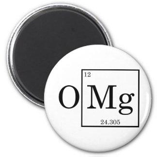 OMG - Magnesio - magnesio - tabla periódica Imán Redondo 5 Cm