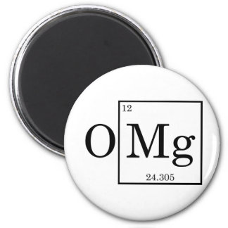 OMG - Magnesium - Mg - periodic table Magnet