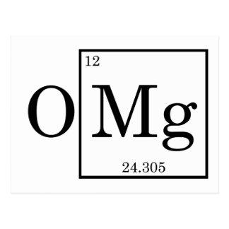 OMG - Magnesium - Mg - periodic table Postcard
