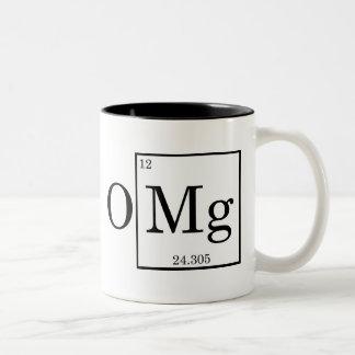 OMG - Magnesium - Mg - periodic table Two-Tone Coffee Mug