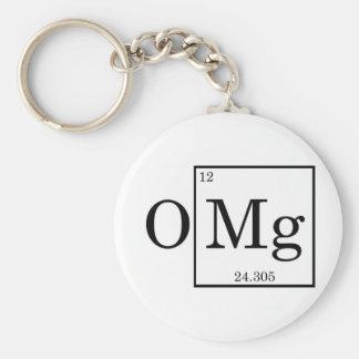OMG Magnesium Science Chemistry Basic Round Button Keychain