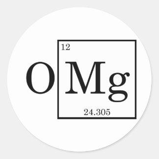 OMG Magnesium Science Chemistry Classic Round Sticker