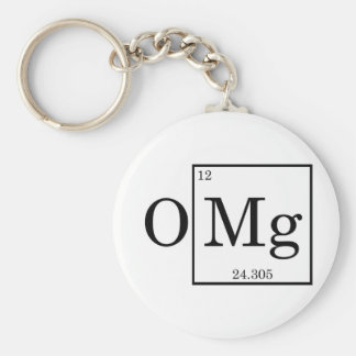 OMG Magnesium Science Chemistry Basic Round Button Keychain
