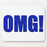 ¡OMG! Mousepad azul Alfombrillas De Raton