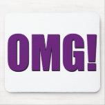 ¡OMG! mousepad púrpura Alfombrillas De Ratón