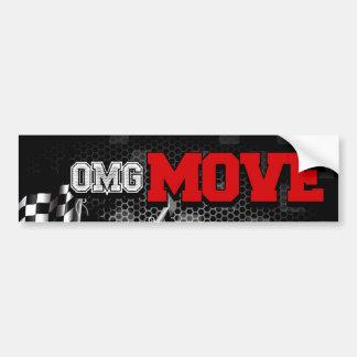 OMG Move Bumper Sticker (Red)