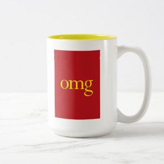 """""""OMG"""" Two-Tone COFFEE MUG"""