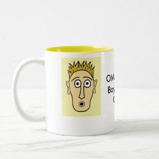 OMG - My Boyfriend is Gay Two-Tone Coffee Mug