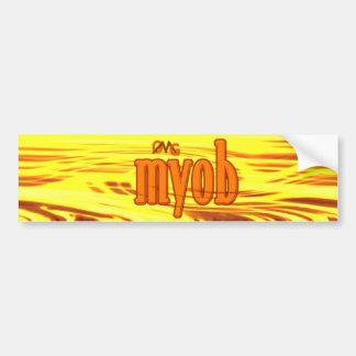 OMG! myob Bumper Sticker