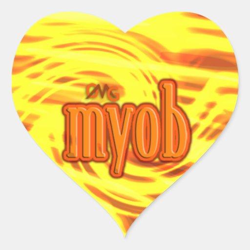 OMG! myob Heart Sticker