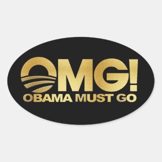 ¡OMG! Obama debe ir (el oro) Colcomanias Oval