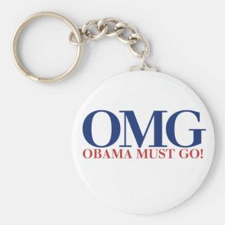 OMG Obama debe IR Llavero Redondo Tipo Pin