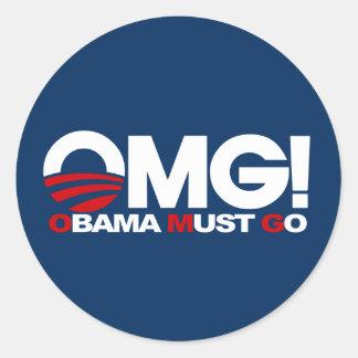 ¡OMG! Obama debe ir Etiquetas Redondas