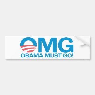 ¡OMG Obama debe ir! Pegatina para el parachoques Pegatina Para Auto