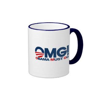 ¡OMG! ¡Obama debe ir! Taza de café de la aversión
