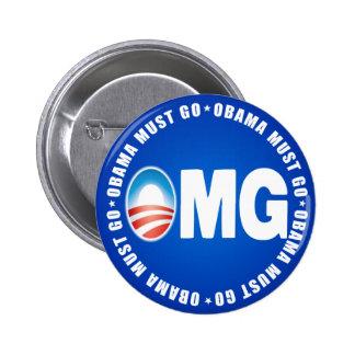 OMG Obama Must Go - Anti Obama 2012 Button