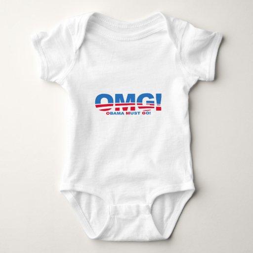 OMG: Obama Must Go! Baby Bodysuit