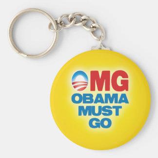 OMG: Obama Must Go Basic Round Button Keychain