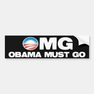 OMG - Obama Must Go Car Bumper Sticker