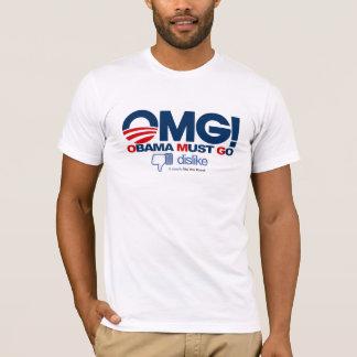 OMG! - Obama Must Go dislike button T-Shirt