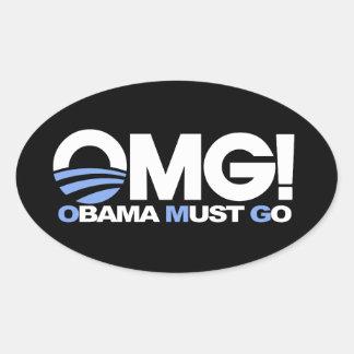 OMG! Obama Must Go Oval Sticker