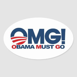 OMG! Obama Must Go sticker
