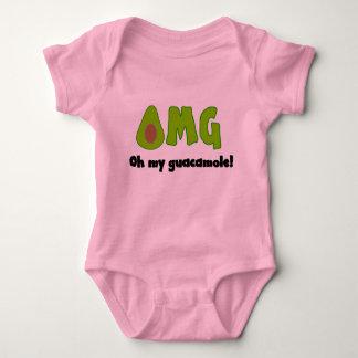 OMG oh mi Guacamole - ropa divertida del bebé Body Para Bebé