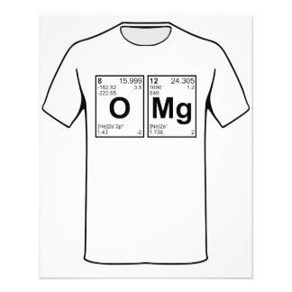 """OMG oh mis elementos de tabla periódica de dios Folleto 4.5"""" X 5.6"""""""