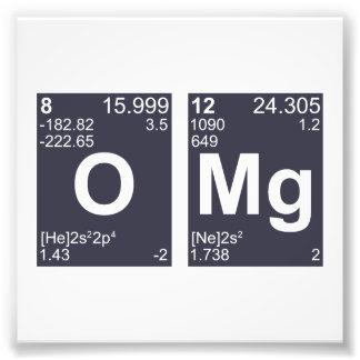 OMG oh mis elementos de tabla periódica de dios Fotografías