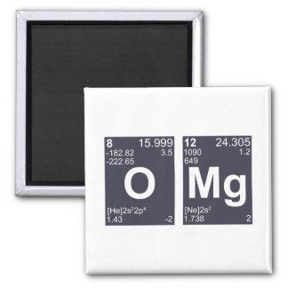 OMG oh mis elementos de tabla periódica de dios Imán Cuadrado