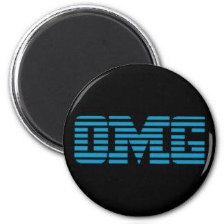 OMG Oh My God Parody Logo 2 Inch Round Magnet
