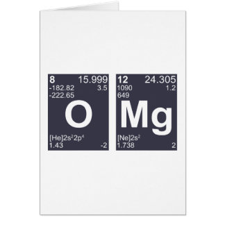 OMG Oh My God Periodic Table Elements Card