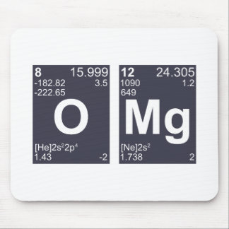 OMG Oh My God Periodic Table Elements Mouse Pad