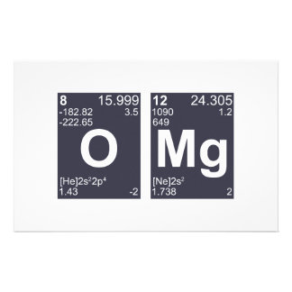 OMG Oh My God Periodic Table Elements Stationery