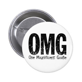 OMG: One Magnificent Goalie (Hockey) Pinback Button