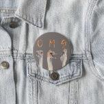 OMG Ostriches Button