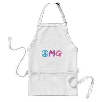 omg peace sign adult apron