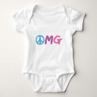 omg peace sign baby bodysuit