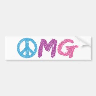 omg peace sign bumper sticker