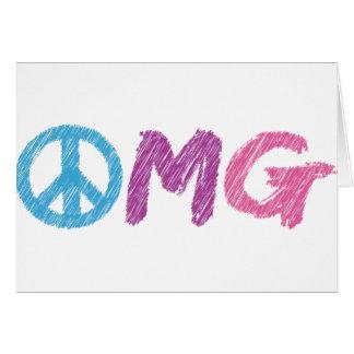 omg peace sign card