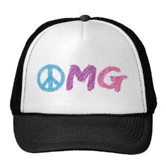 omg peace sign trucker hat