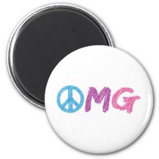 omg peace sign magnet